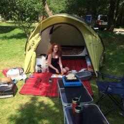 :) camping